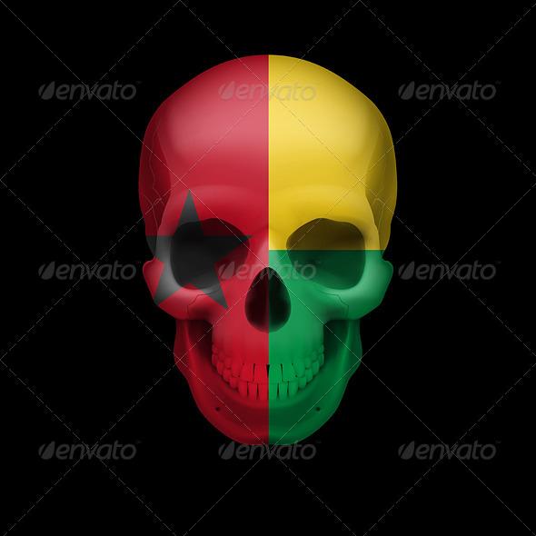 GraphicRiver Guinean Flag Skull 7997784