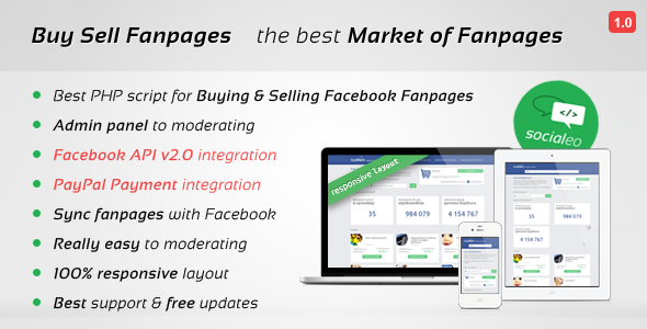 CodeCanyon BSF Facebook Market Buy Sell Fanpages 7997805