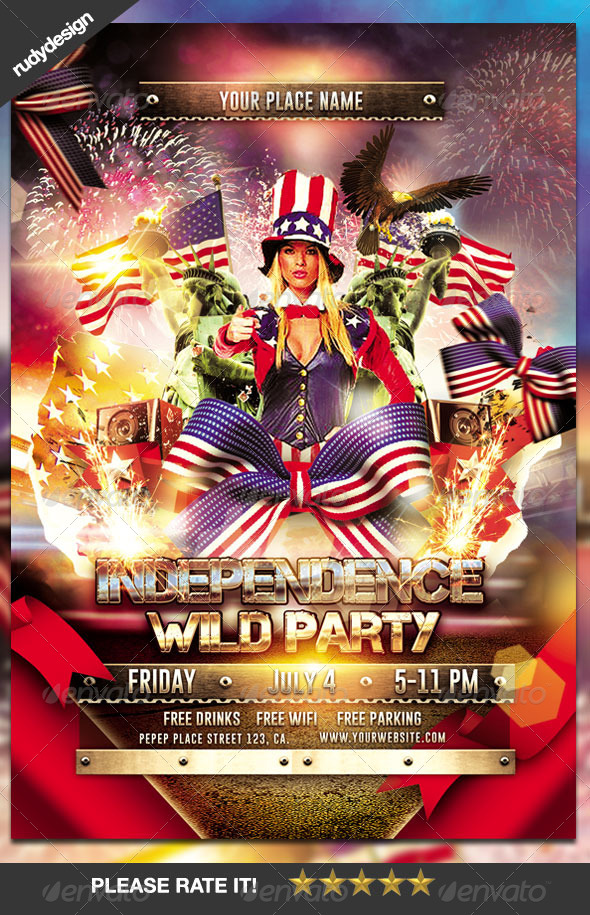GraphicRiver Independence Day Party Flyer 7997807