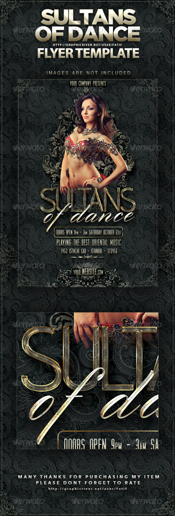 Sultans Of Dance Flyer Template - Events Flyers