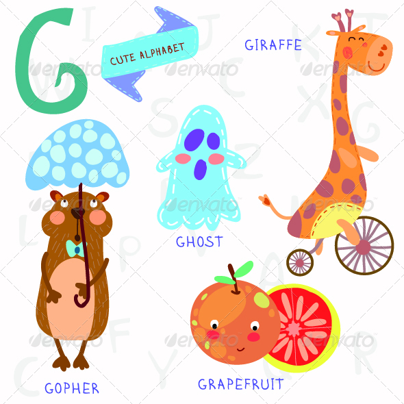 GraphicRiver Alphabet G Letter 7997846
