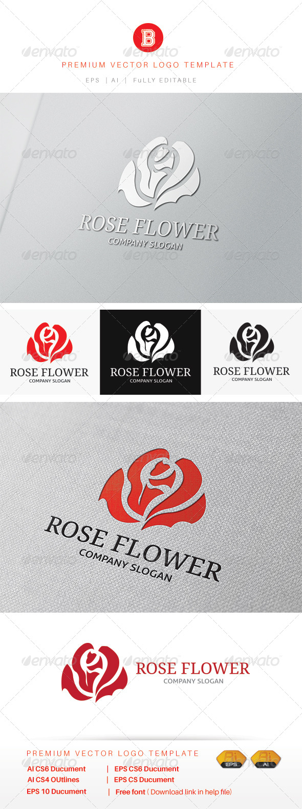 GraphicRiver Rose Flower 7997865