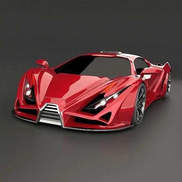 3DOcean Exona concept car 7997878
