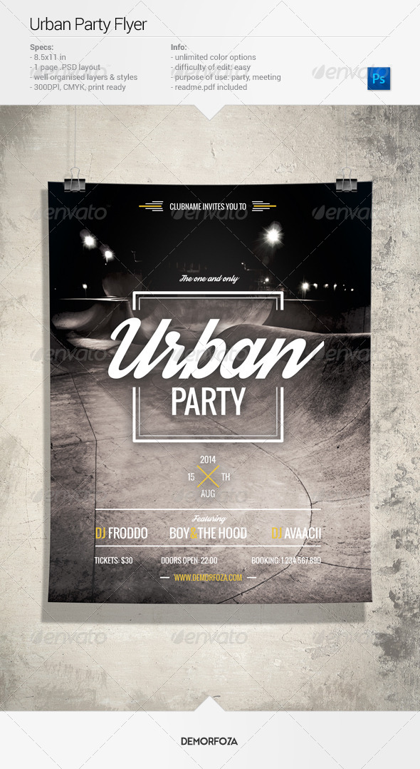 GraphicRiver Urban Party Flyer 7982063