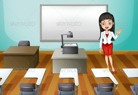 GraphicRiver Room with Teacher 7997900