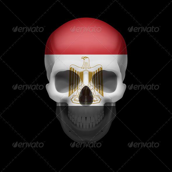 GraphicRiver Egyptian Flag Skull 7997906