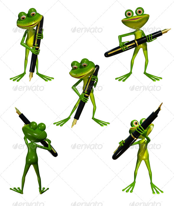 GraphicRiver Frog with a Pen 7975430
