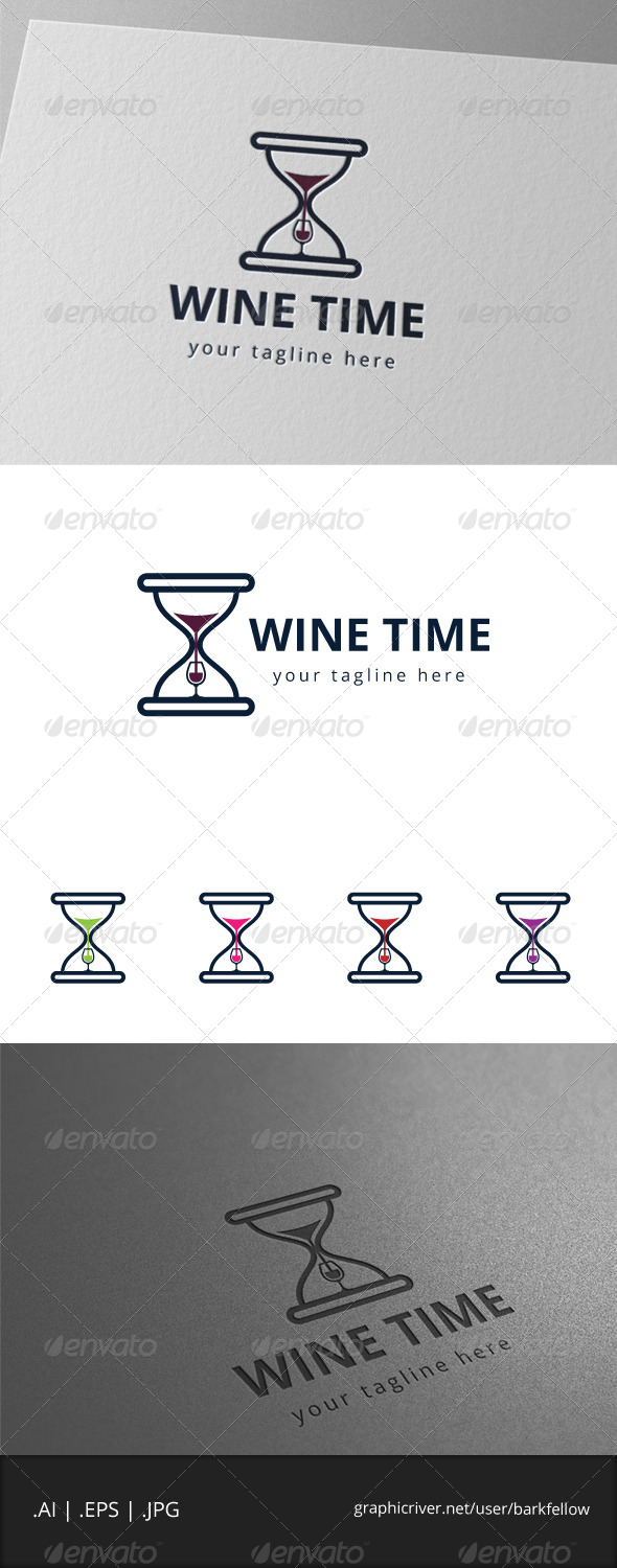 GraphicRiver Drink Wine Time Logo 7998384
