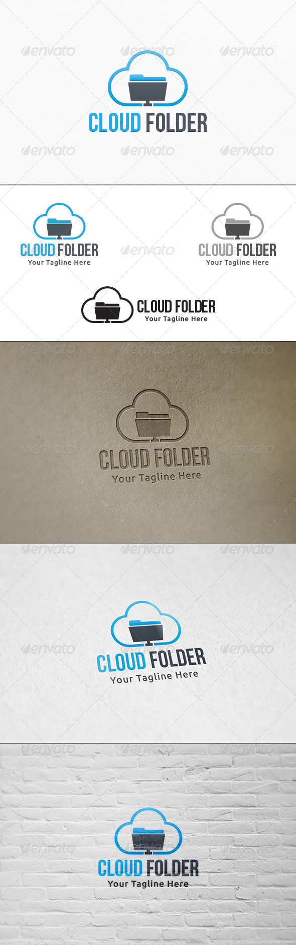 GraphicRiver Cloud Folder Logo Template 7998462