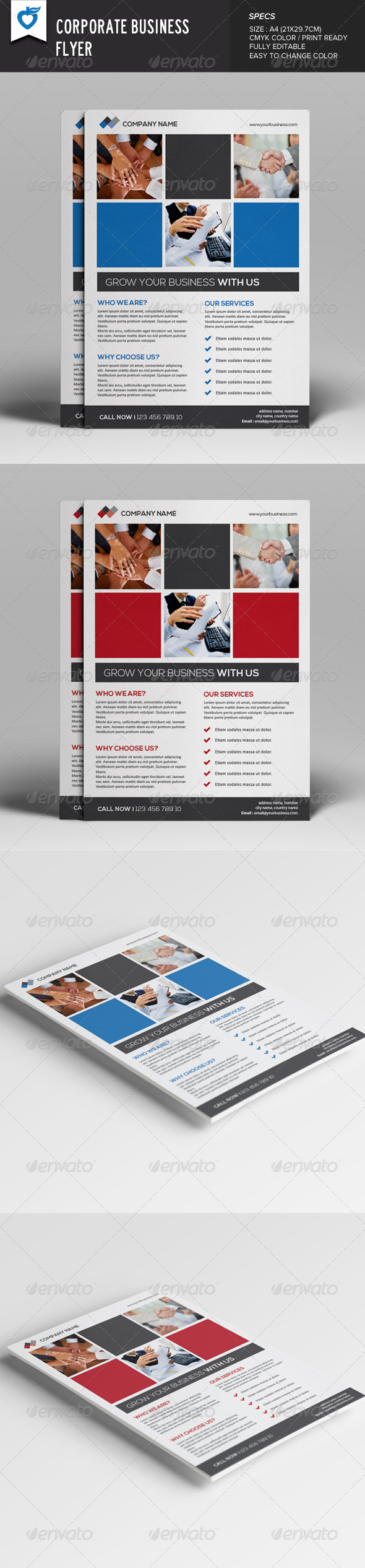 GraphicRiver Corporate Business Flyer v9 7998465