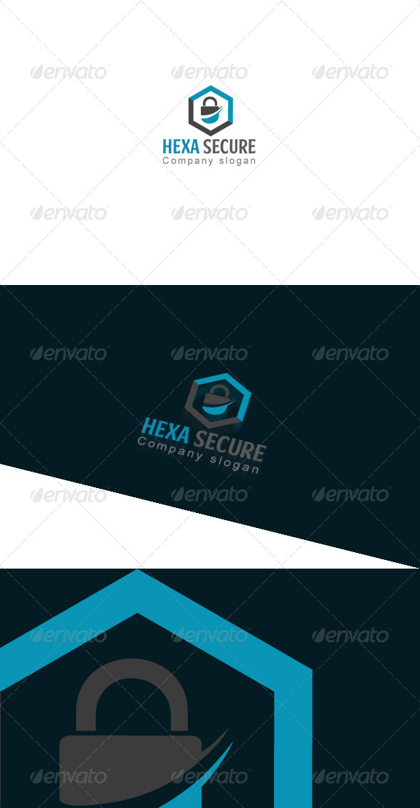 GraphicRiver Hexa Secure Logo Template 7998504