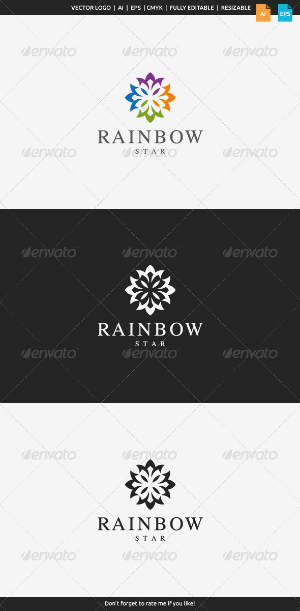 GraphicRiver Rainbow Star Logo 7998582