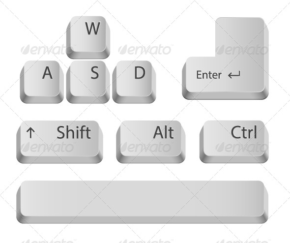 GraphicRiver Main Keyboard Buttons 7998612