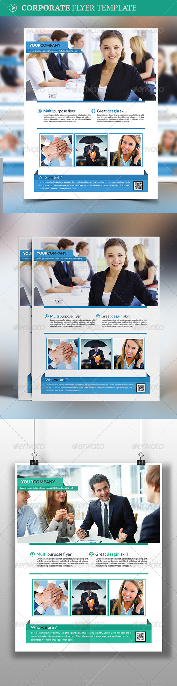 GraphicRiver Corporate Flyer Template 7998809