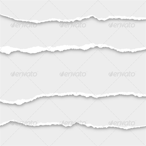 GraphicRiver Set of Lacerated Papers 7811704