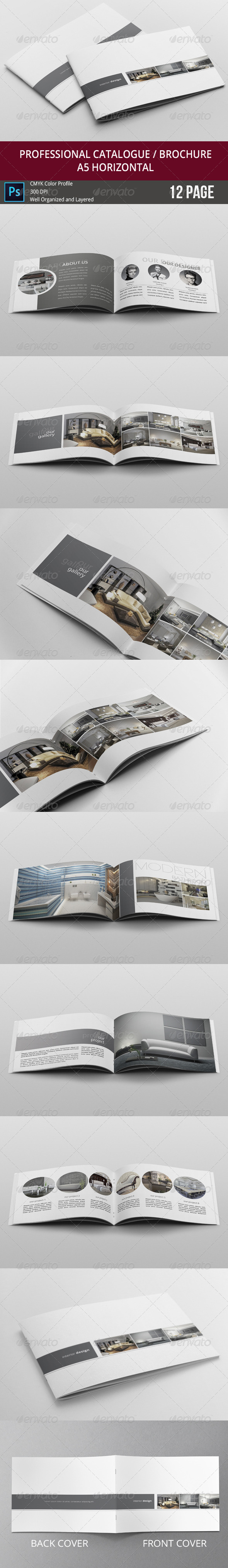 GraphicRiver Simple & Clean A5 Catalogue 7999212