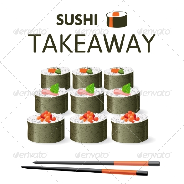 GraphicRiver Sushi Set 7999271
