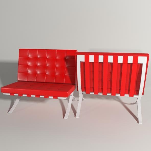 3DOcean Barcelona Chair 7974128
