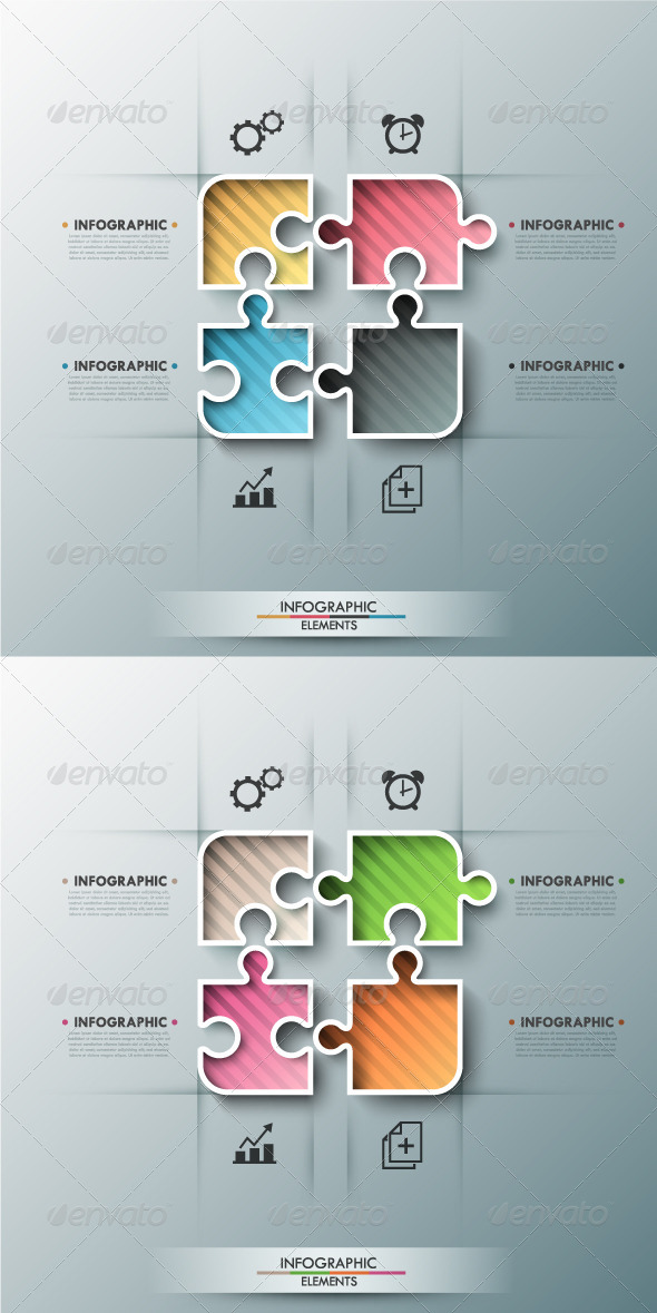 GraphicRiver Modern Infographic Options Banner 2 Colors 7999275