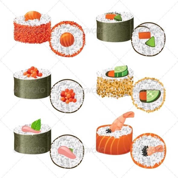 GraphicRiver Sushi Set 7999327