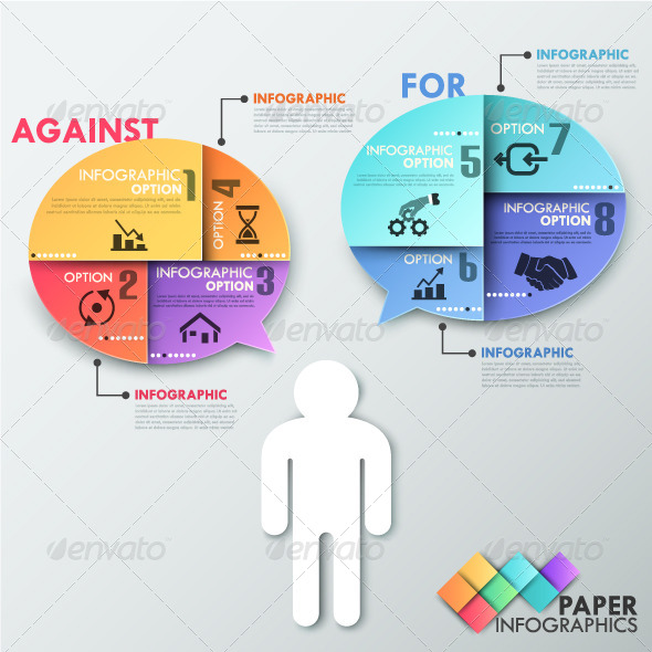 GraphicRiver Paper Infographic Template With Talking Man 7999333