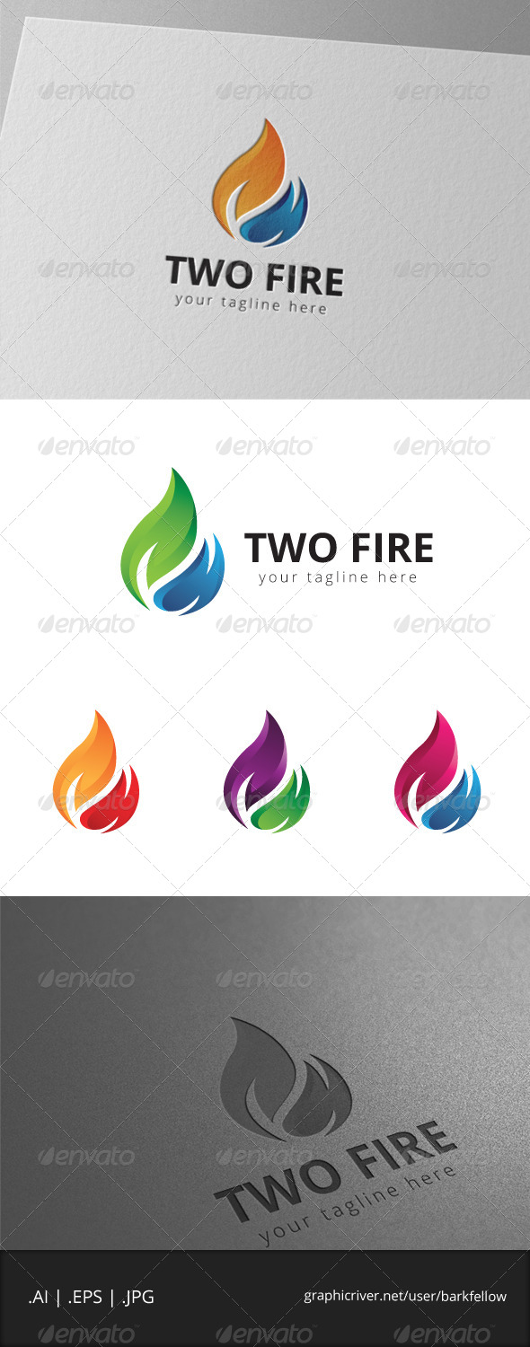 Two Fire Logo
