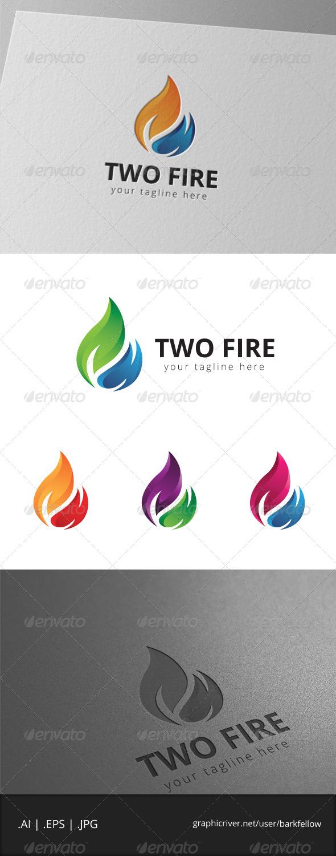 GraphicRiver Two Fire Logo 7999364