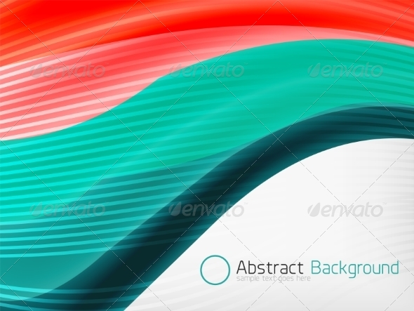 GraphicRiver Rainbow Color Wave Abstraction Design Template 7999496