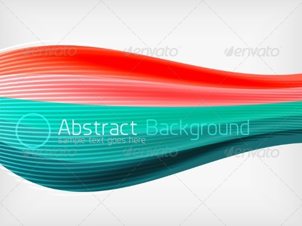 GraphicRiver Rainbow Color Wave Abstraction Design Template 7999521