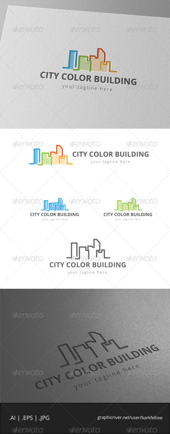 GraphicRiver Color City Building Logo 7999585