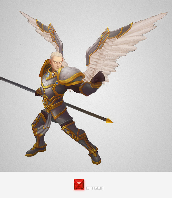 3DOcean Low Poly Angel Male 7999598