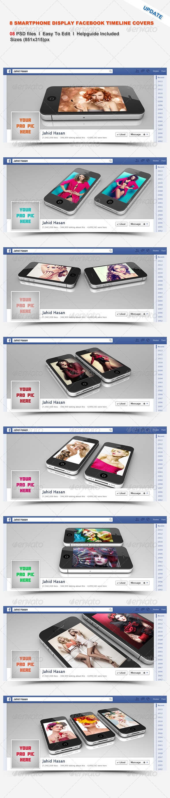 8 Smartphone Display Facebook Timeline Covers - Facebook Timeline Covers Social Media
