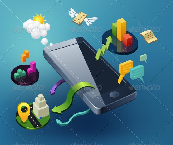 GraphicRiver Smartphone Illustration 7999640