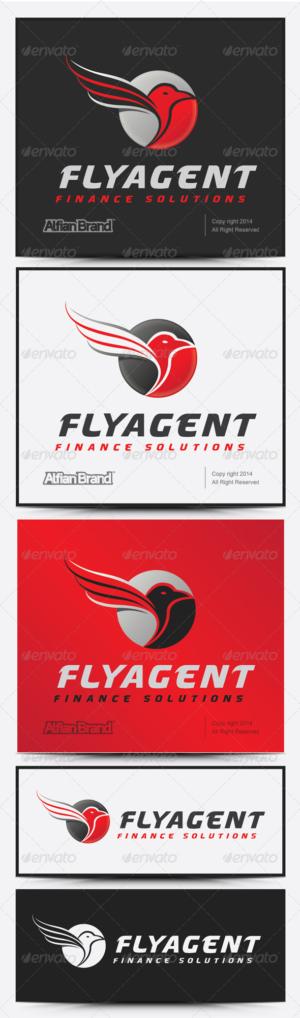 GraphicRiver Fly Agent Logo 7999875