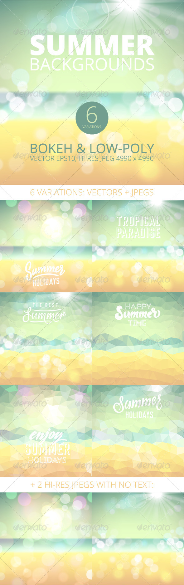 GraphicRiver Summer Holiday Tropical Beach Backgrounds 7999969