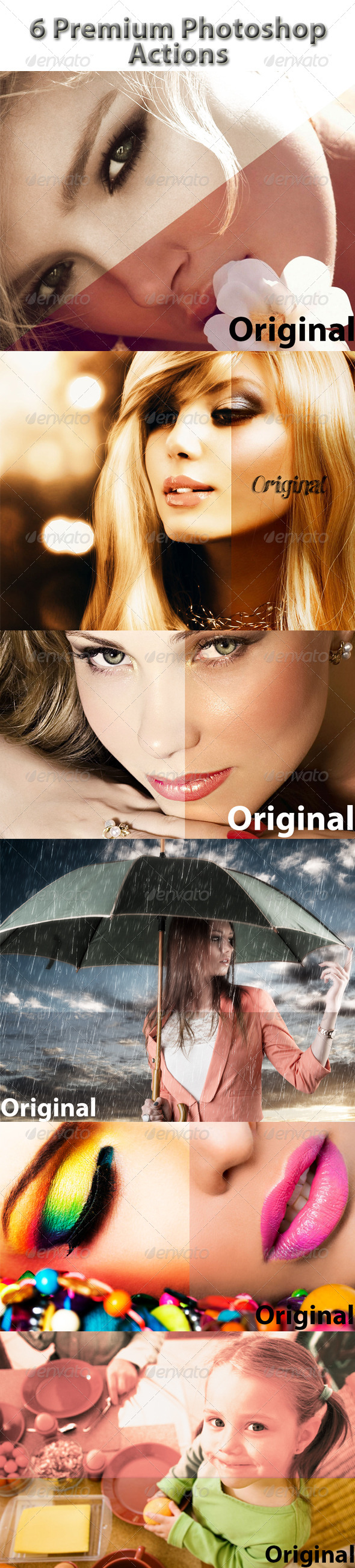 GraphicRiver 6 Premium Photoshop Actions 7680934