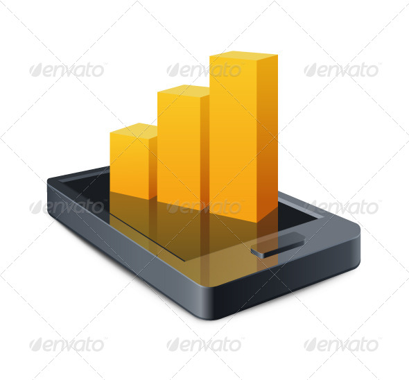 GraphicRiver Smart Phone with a Graph Illustration 8000057