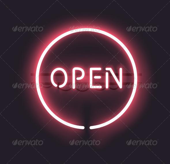 GraphicRiver Neon Open Sign 8000063