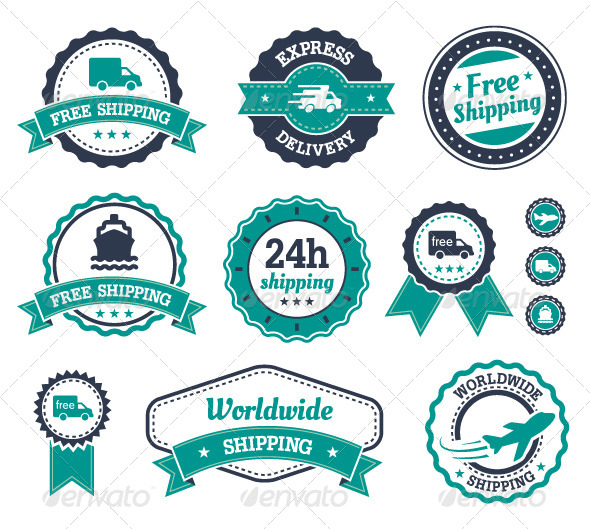 GraphicRiver Shipping Labels 8000091