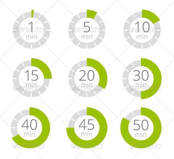 GraphicRiver Set of Simple Timers 8000093