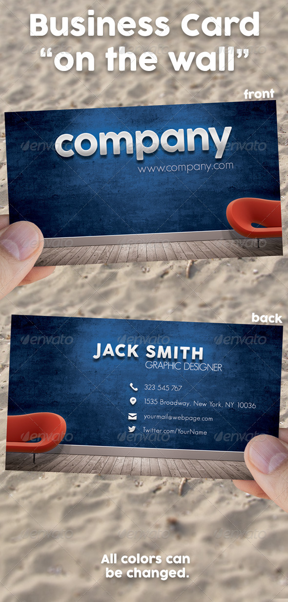 GraphicRiver Business Card On The Wall Template 8000203