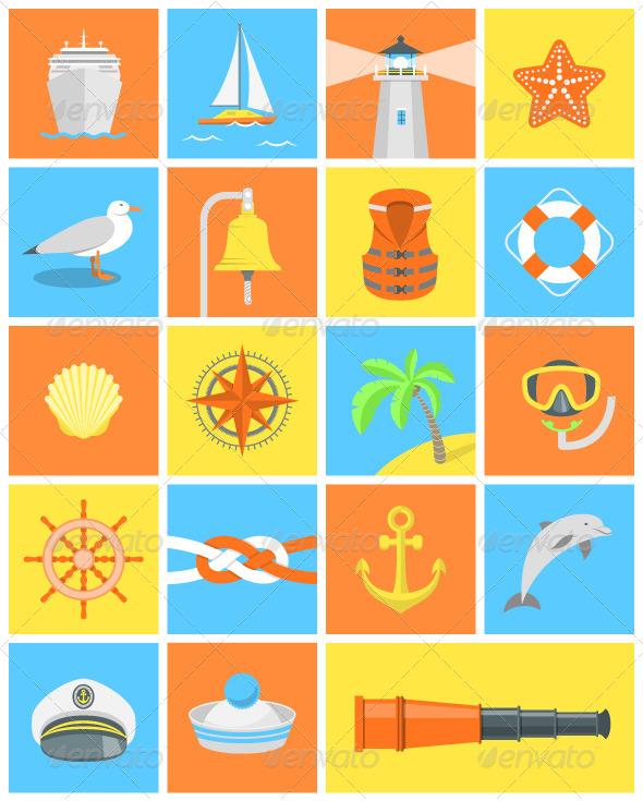 GraphicRiver Nautical Icons 8000205