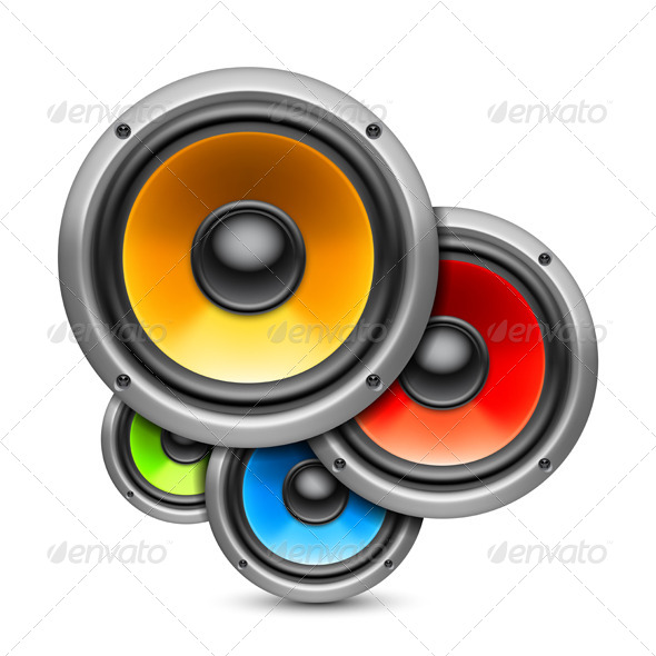 GraphicRiver Color Speakers 8000218