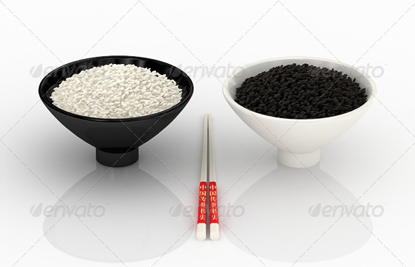 GraphicRiver White and Black Rice 7972737