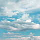 Fluffy White Clouds on Blue Sky 03 - VideoHive Item for Sale