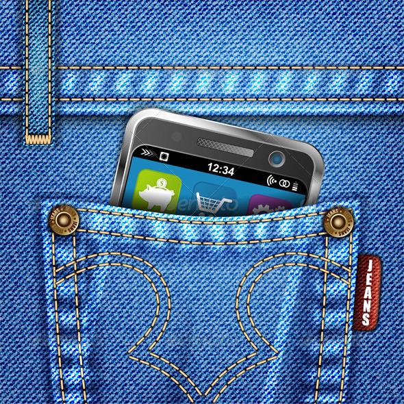 Graphic River Jeans Texture Vectors -  Conceptual  Technology  Communications 815694