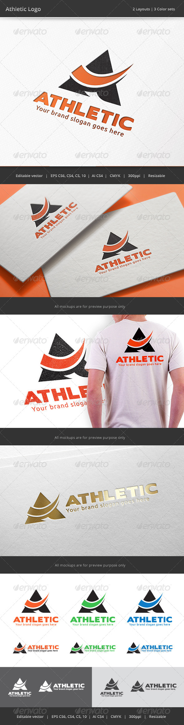 GraphicRiver Athletic Letter A Logo 8000434