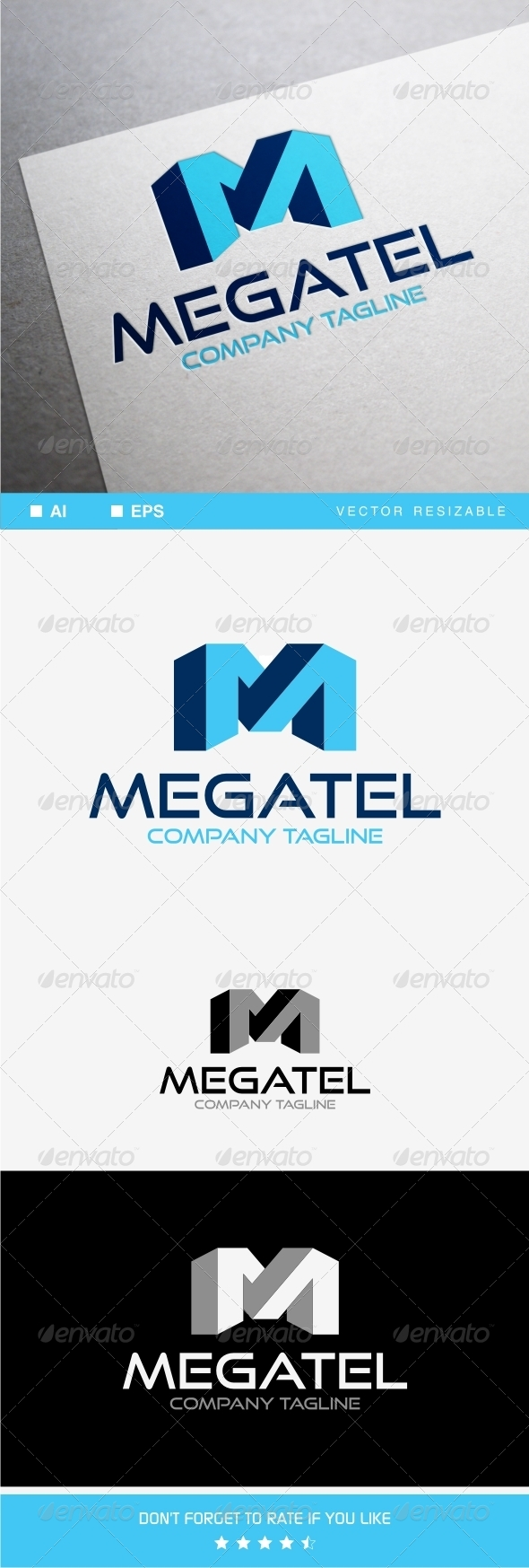 GraphicRiver M Letter Logo Template 8000435