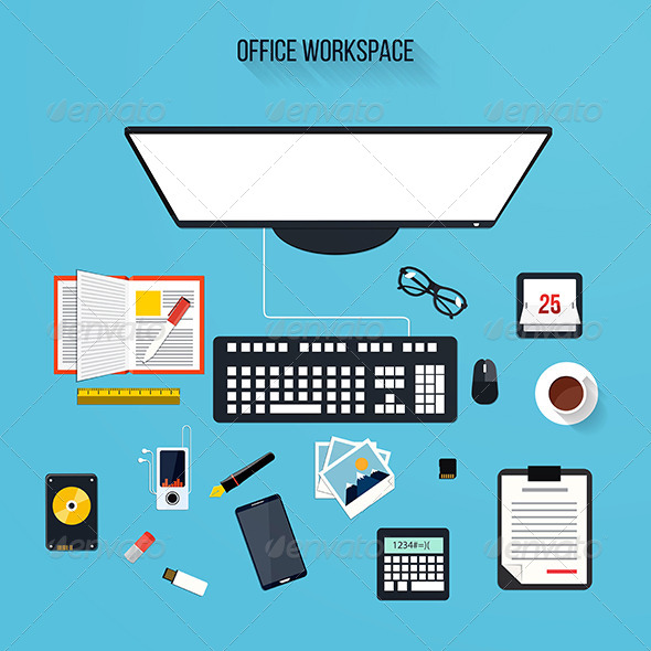 GraphicRiver Modern Office Elements 8000734