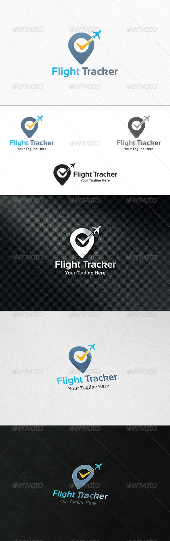 GraphicRiver Flight Tracker Logo Template 8000737